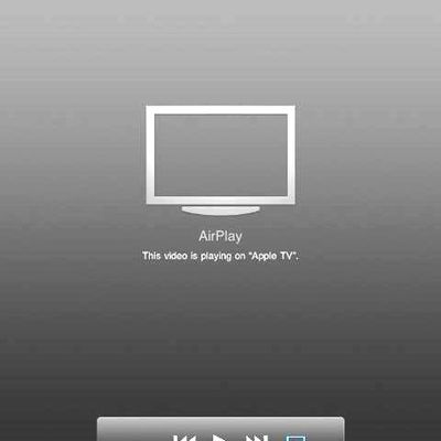iPad Screenshot of AirPlay