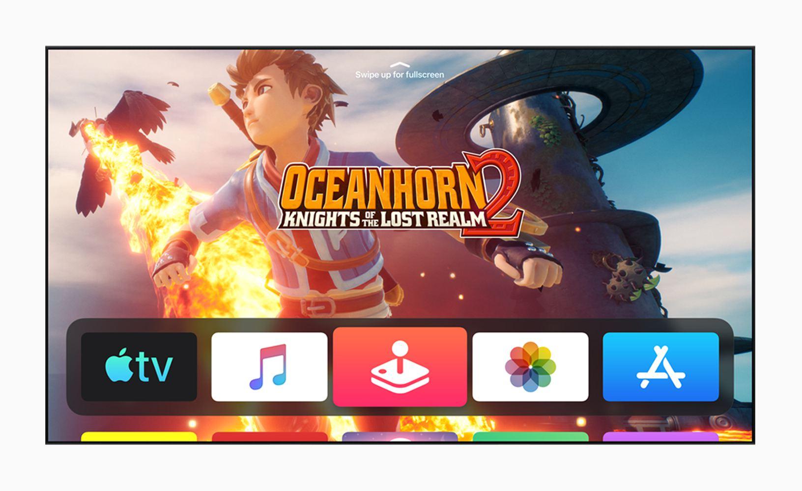 Apple TV tvOS13 screen of Oceanhorn 2