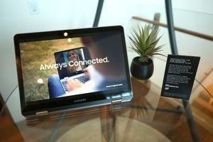 Samsung Chromebook Plus on display