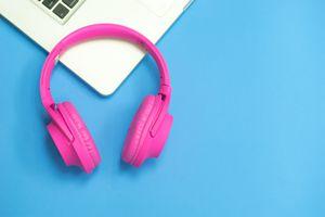 Pink Bluetooth Headphones on a Mac