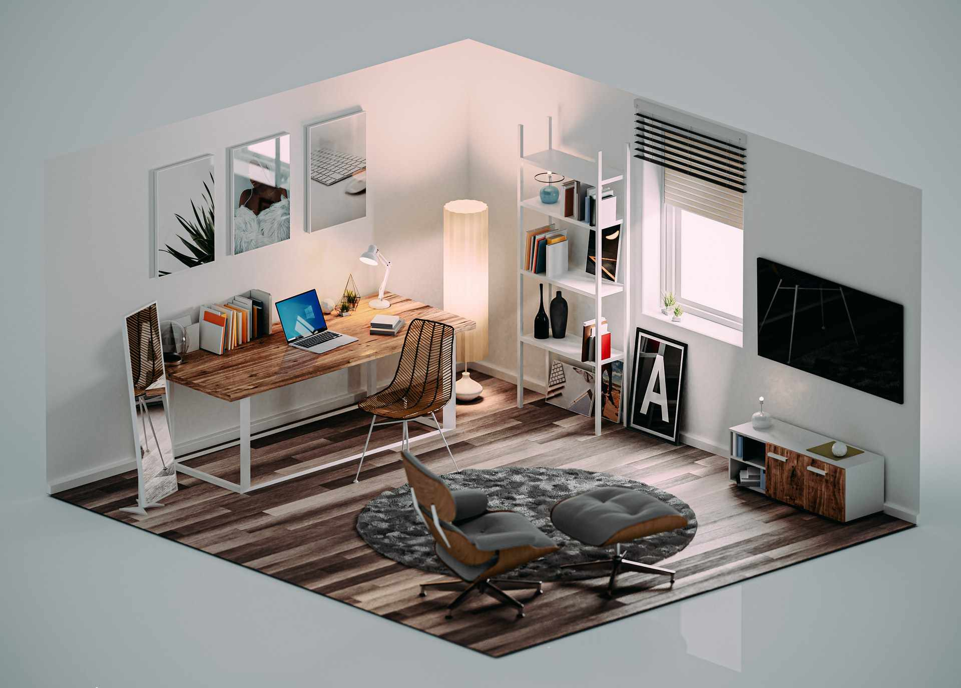 An image of a virtual room.