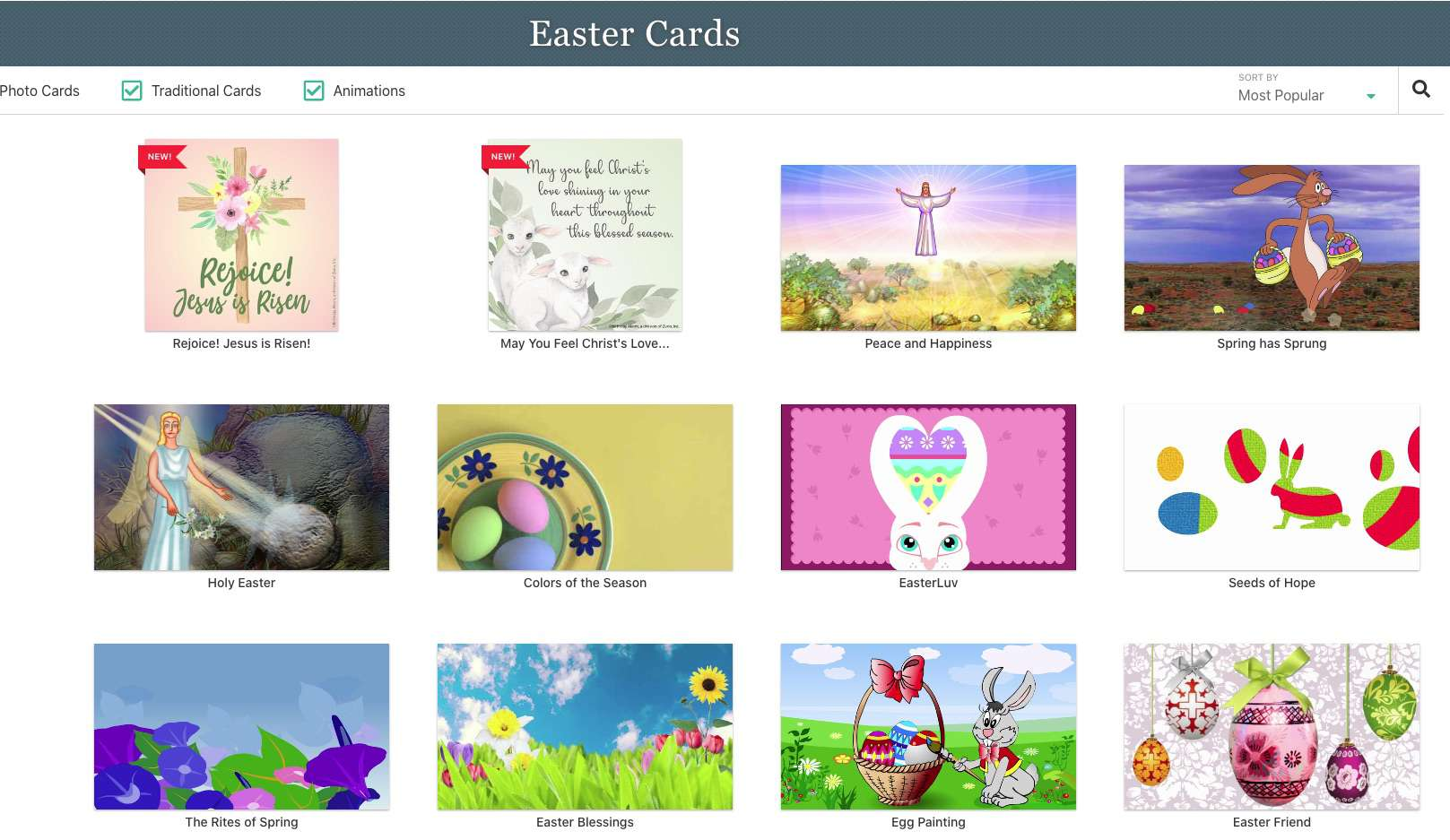 BirthdayAlarm free Easter E-Cards
