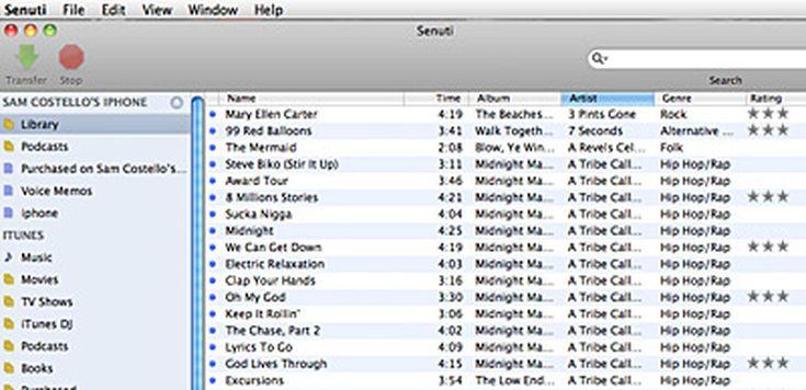 Review of Senuti, a Program to Transfer Music to Macs