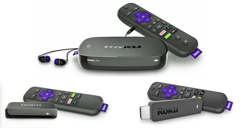 Roku streaming devices.