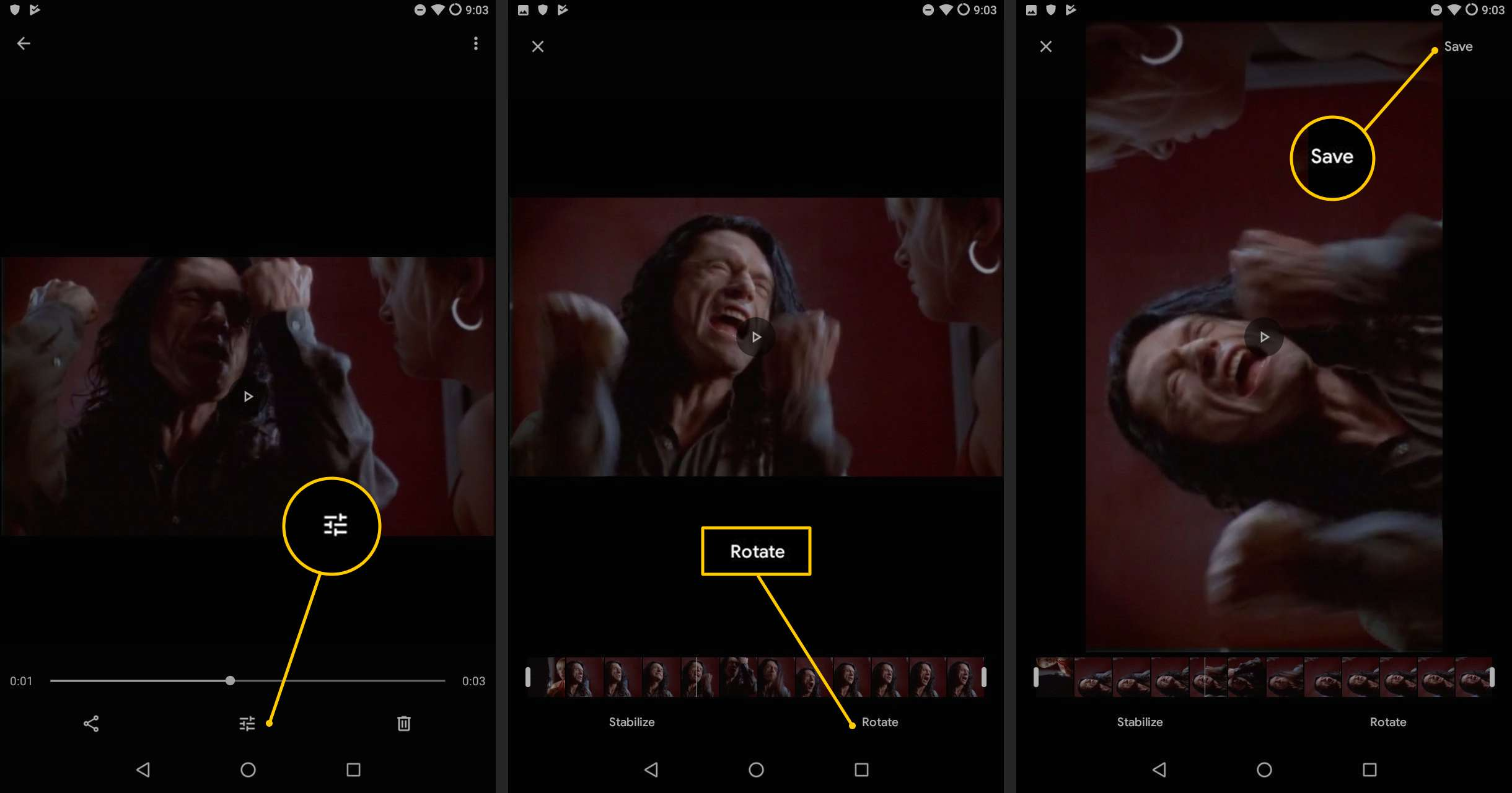 How to Rotate Videos On Android