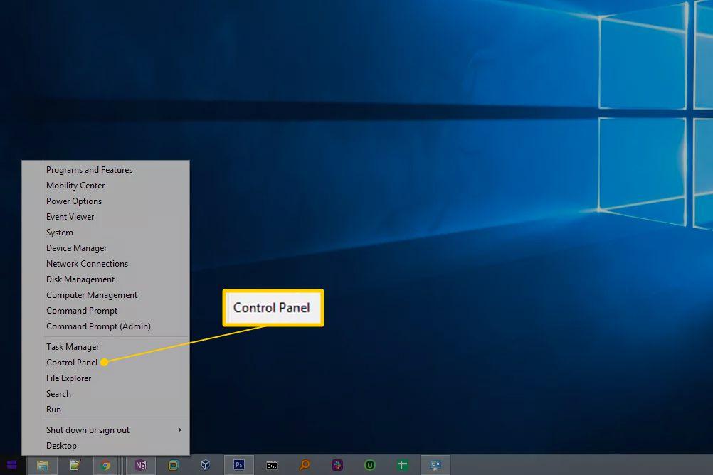 Control Panel in Windows 7