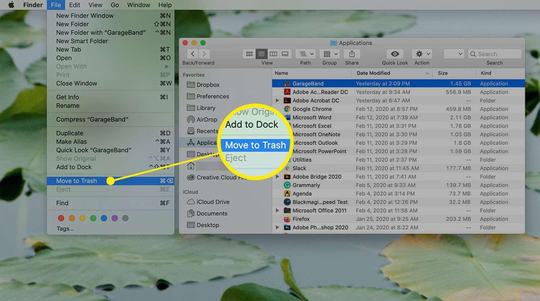 Finder Window on a Mac