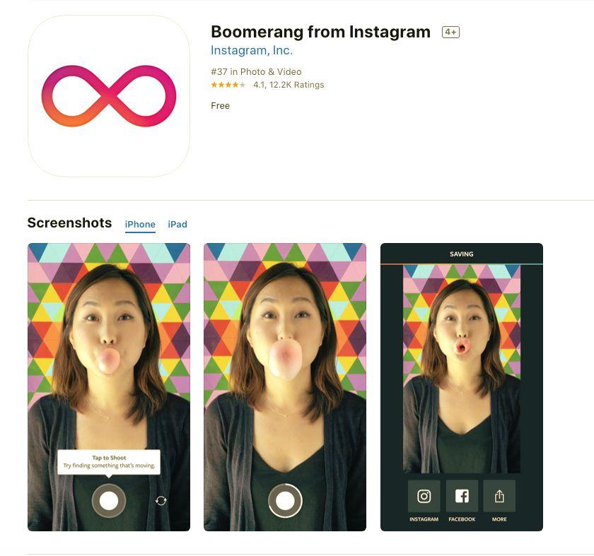 Boomerang From Instagram app