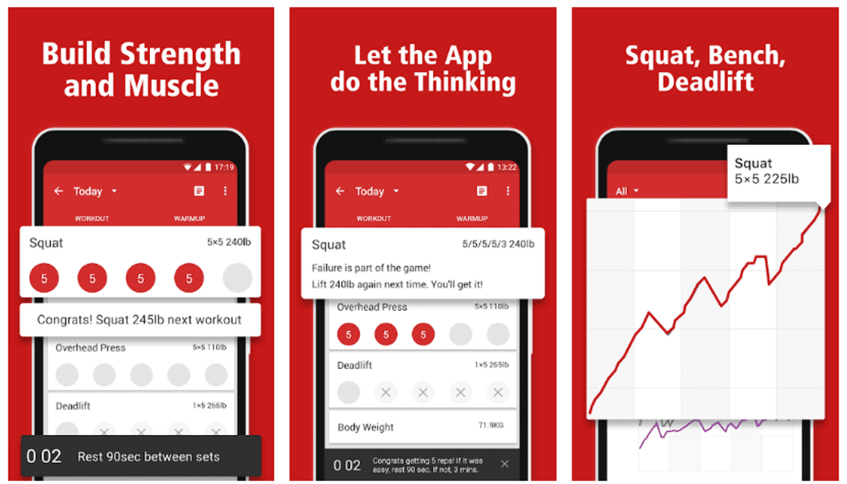 The Stronglifts app.