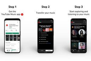 YouTube Music App transfer instructions