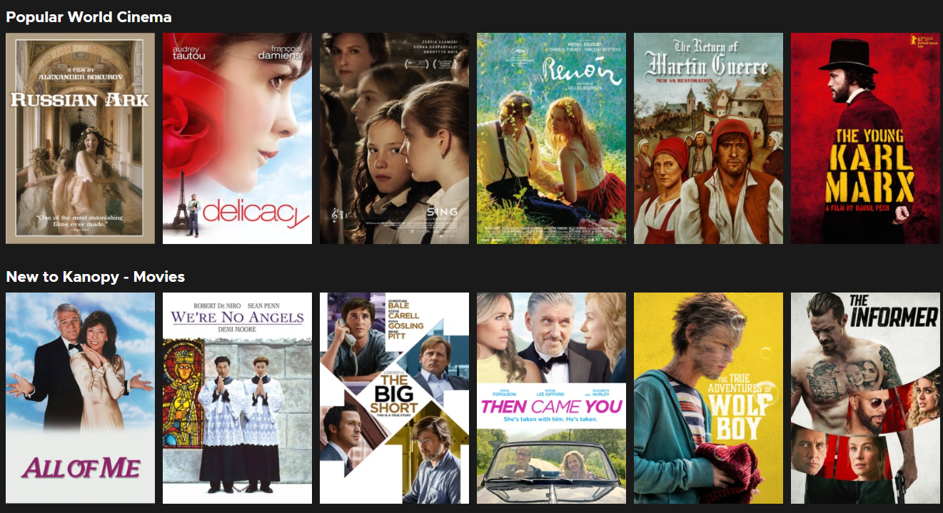 kanopy's popular world cinema movies