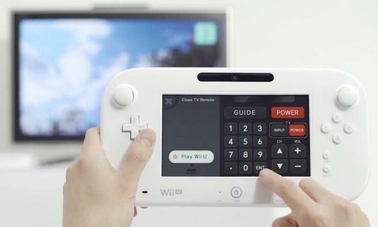 You'll be able to use the Wii U as a TV remote
