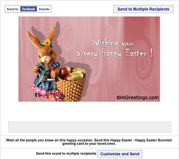 Hi! Greetings free Easter E-Cards