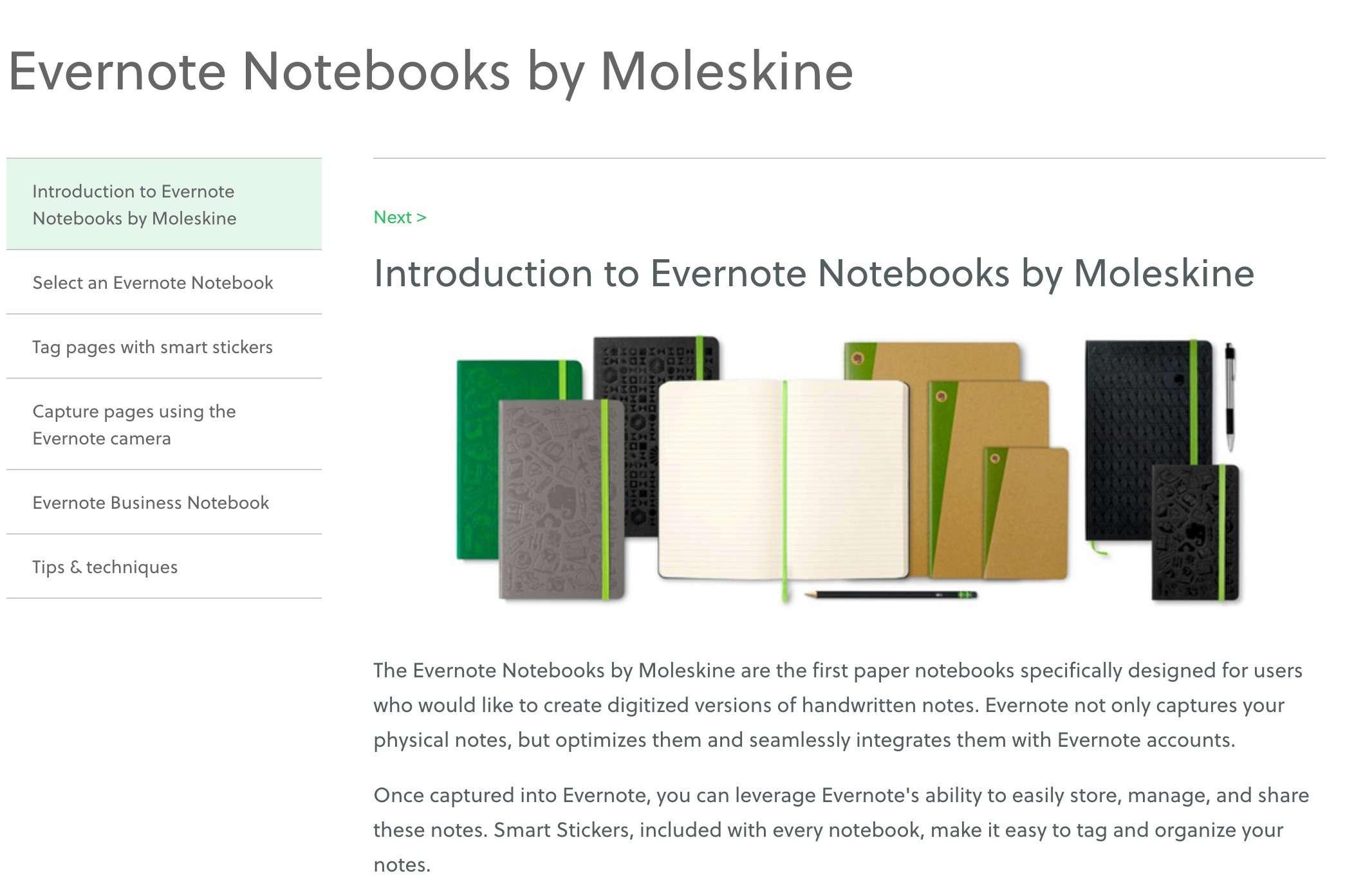 Evernote Notebooks by Moleskine