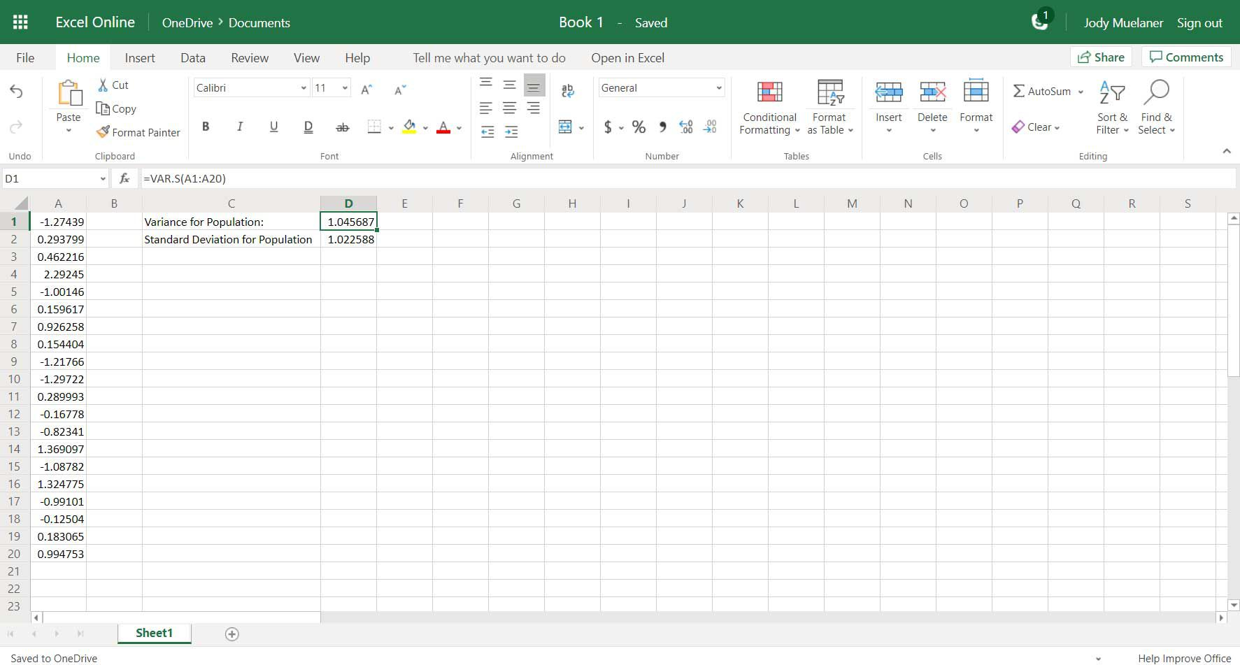 How to Find Variance in Excel