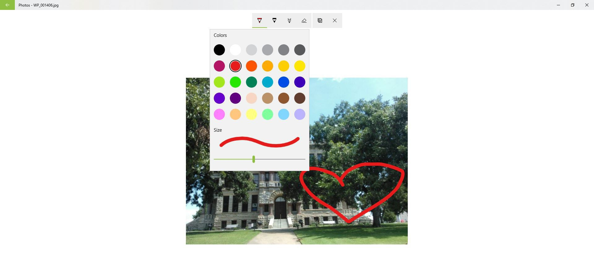 The Draw feature in Microsoft Photos