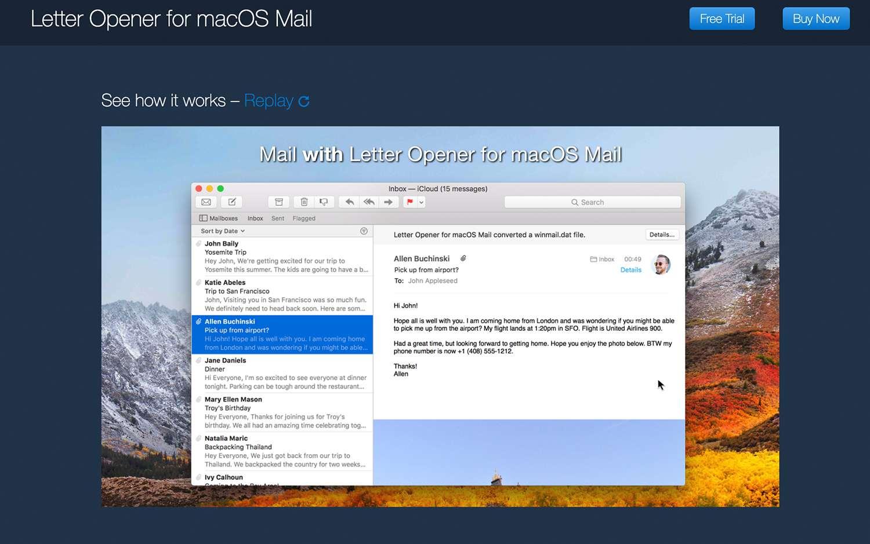Letter Opener for macOS Mail