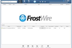 Screenshot of FrostWire v6 in Windows 7