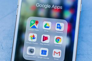 A variety of google apps on a smartphone