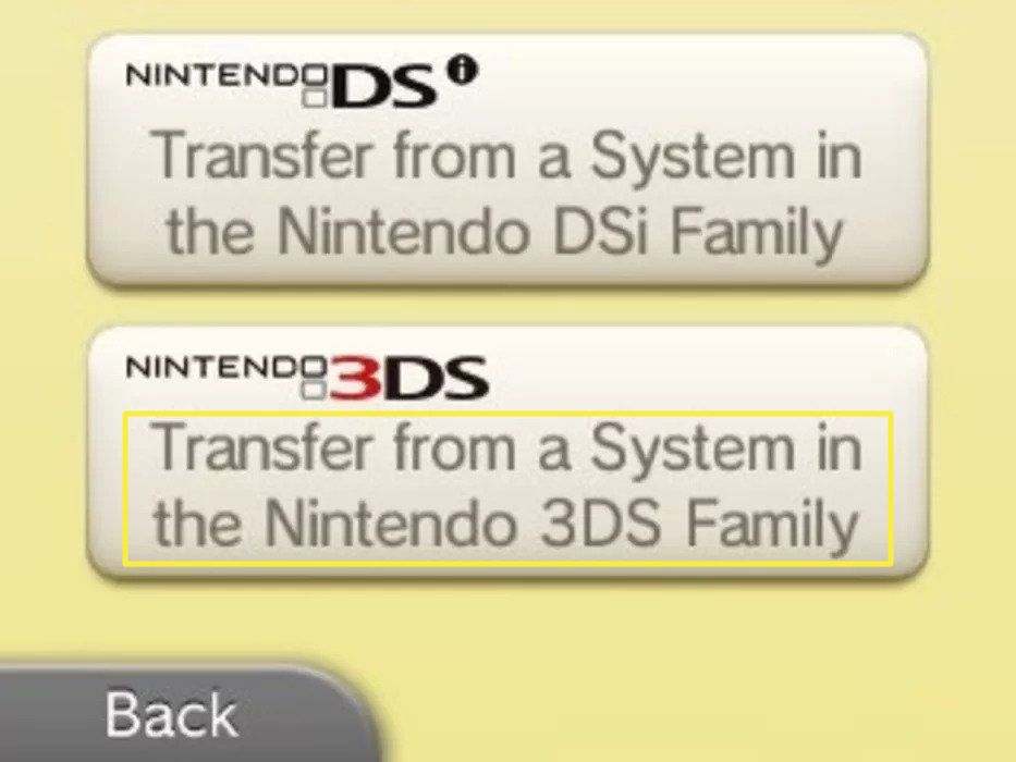 Tap Transfer from a System in the Nintendo 3DS Family.