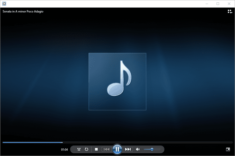 Screenshot of Windows Media Player playing an AC3 file