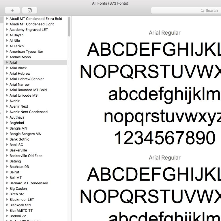 install fonts word mac os x