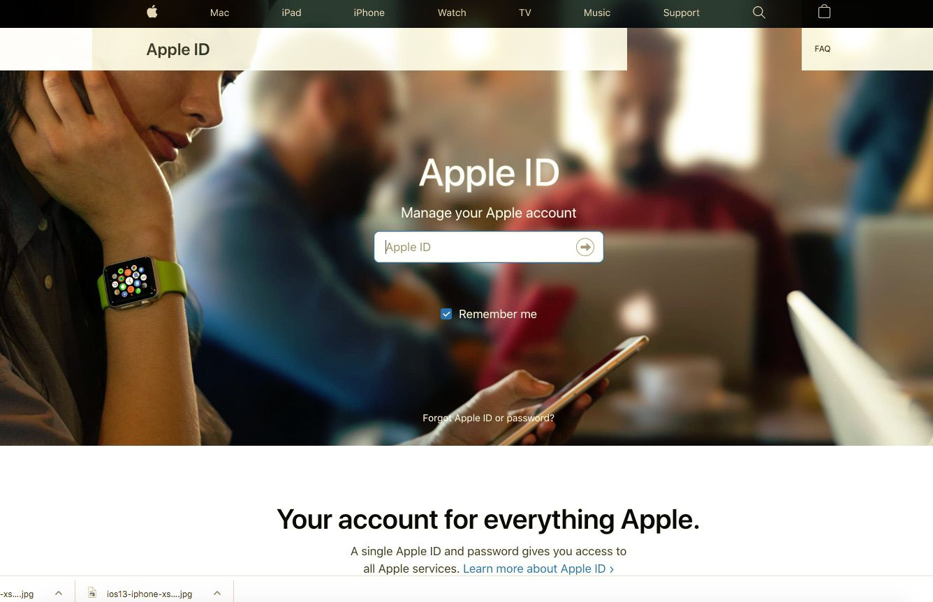 Manage your Apple ID on the web