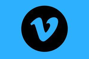 Vimeo icon on blue background