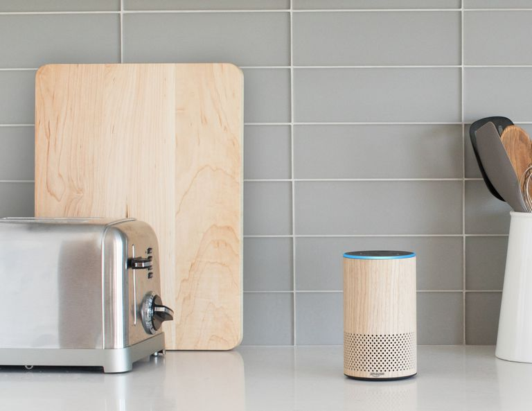 Echo Plus on kitchen counter