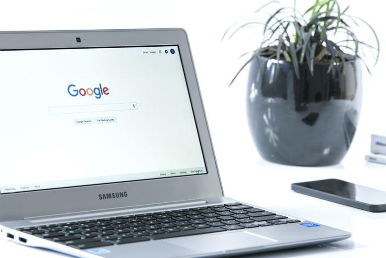Google Chromebook on desk