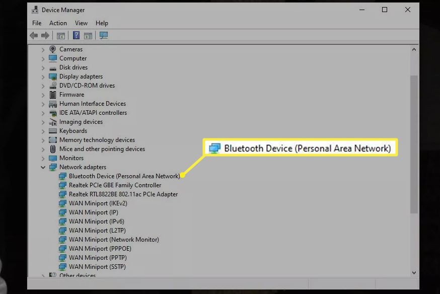 Bluetooth device in Device Manager list