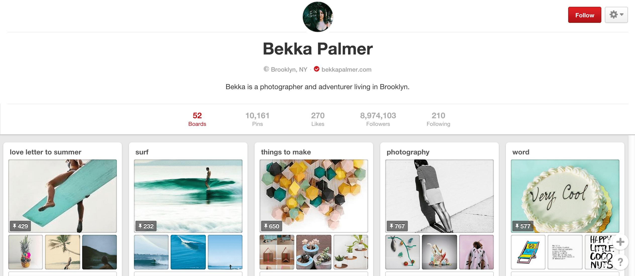 Bekka Palmer Pinterest board