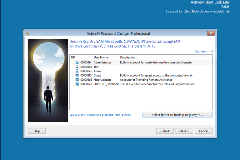 Screenshot of Active Password Changer Professional v7.0.9