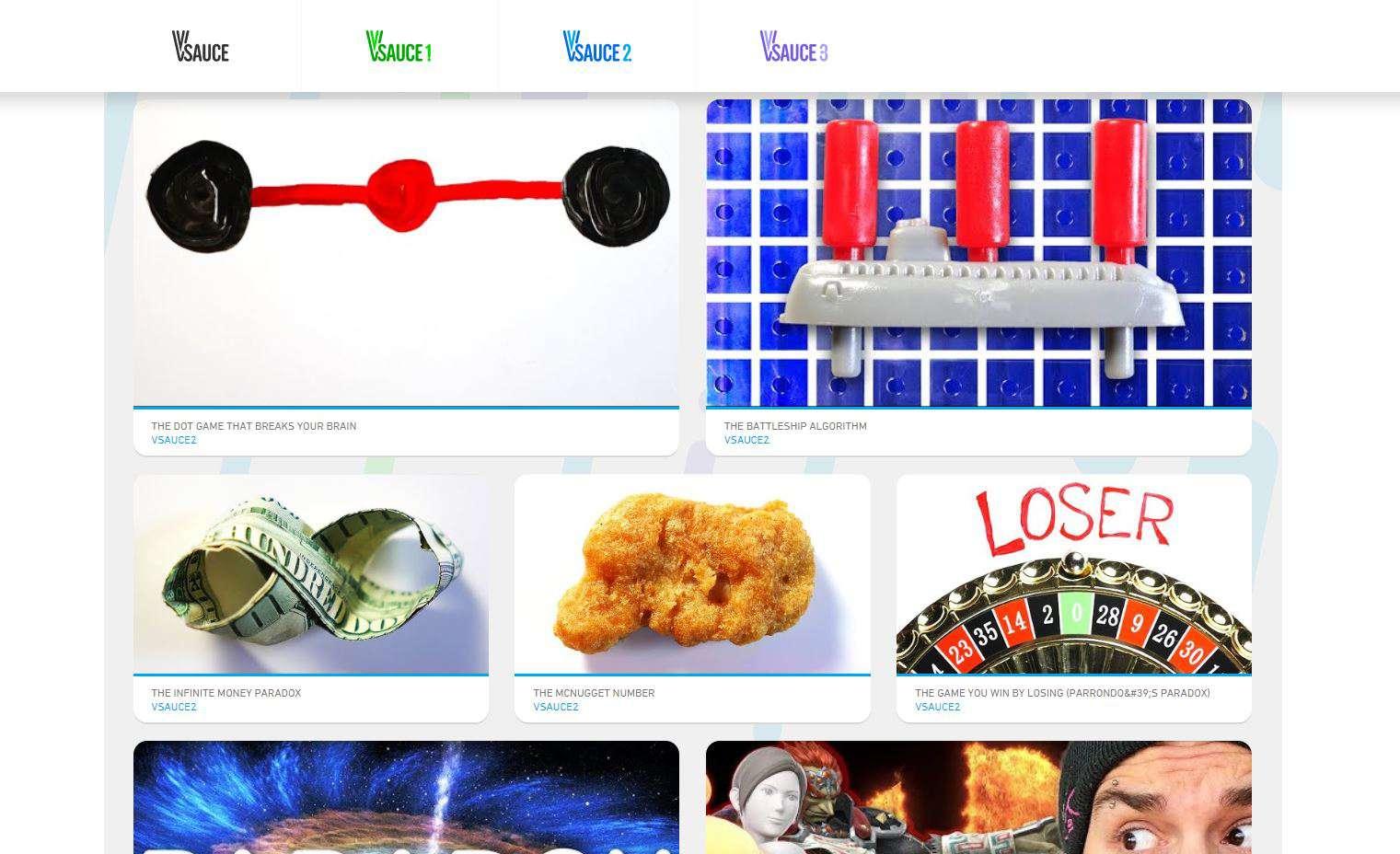 Vsauce website