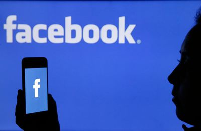 Facebook logo and user