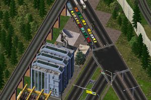 Gameplay of city and cars in The Sims