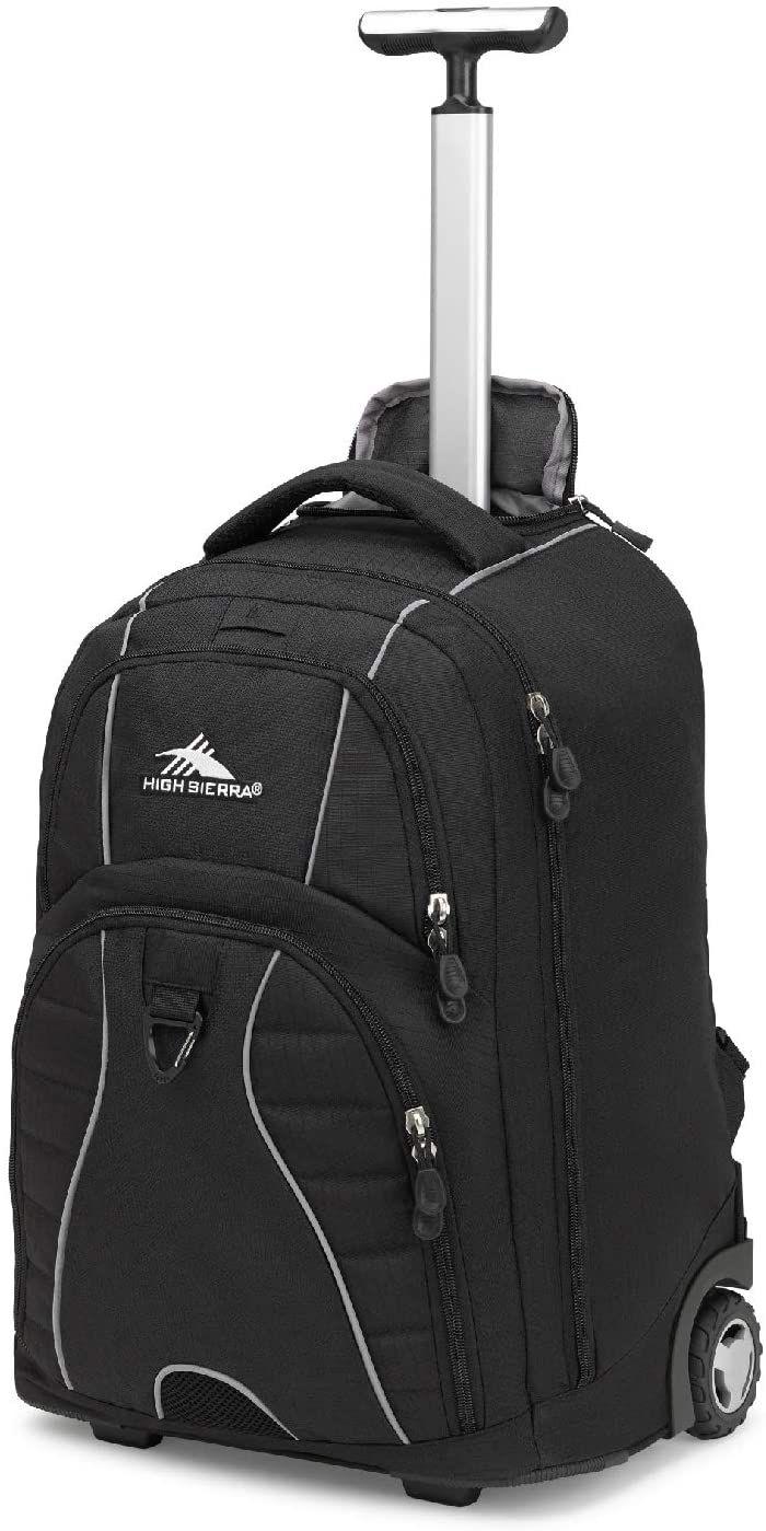 High Sierra Freewheel Wheeled Laptop Backpack, 20.5 x 13.5 x 8-Inch, Black
