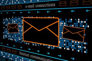 An illustration of email being received and backed up automatically.