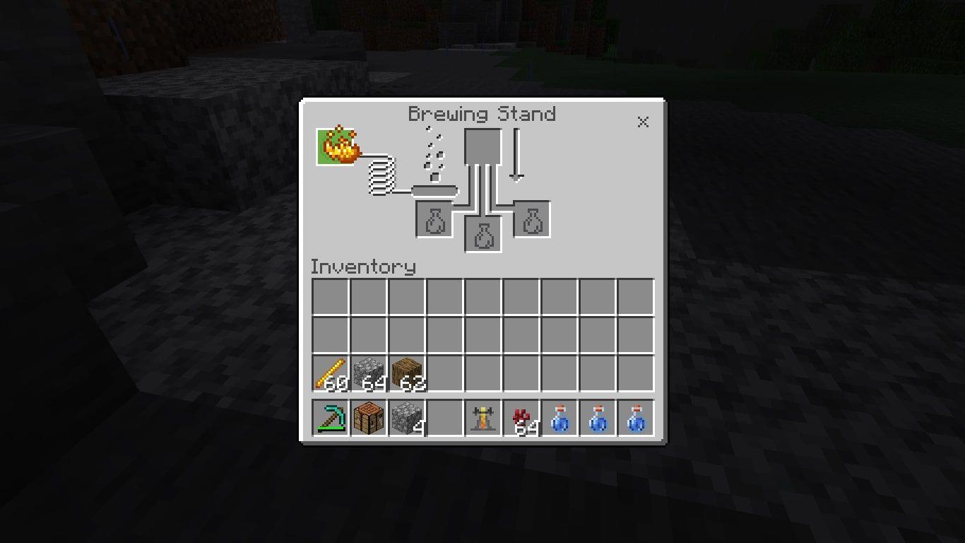 Put 1 Blaze Power in the upper-left corner of the brewing menu.
