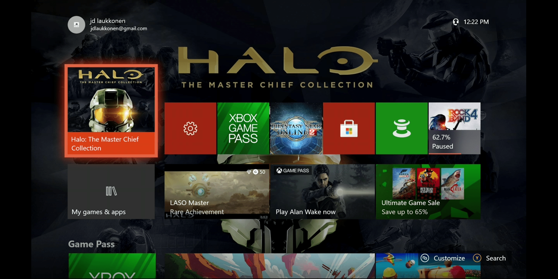 A screenshot of streaming Xbox One to a phone.