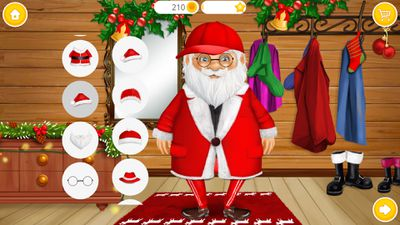 Sweet Baby Girl Christmas 2 Santa video game app on iOS and Android.