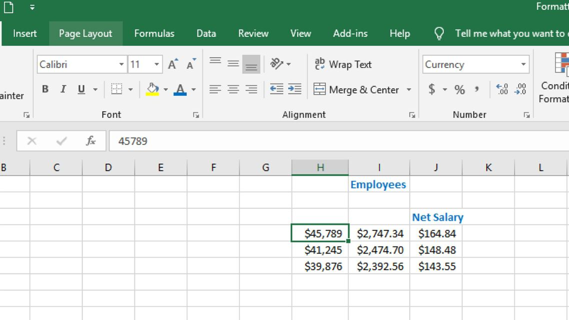 Accounting vs. Currency Formatting in Excel