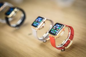 Apple Watches displayed on table