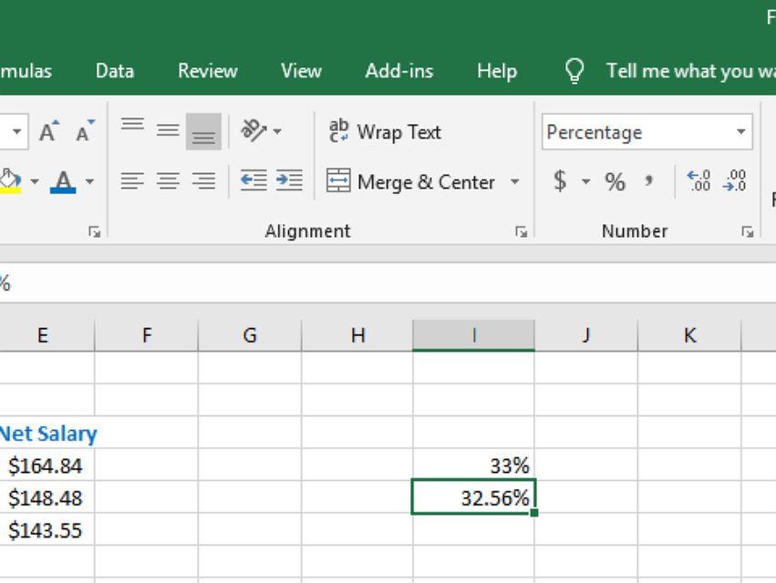 Applying Percent Formatting in Excel