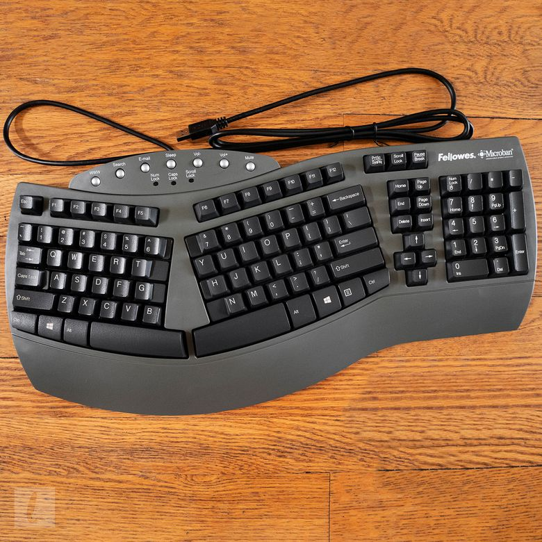 Fellowes Microban Split Design Wired Keyboard