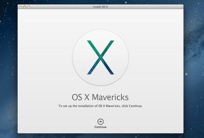 OS X Mavericks installer
