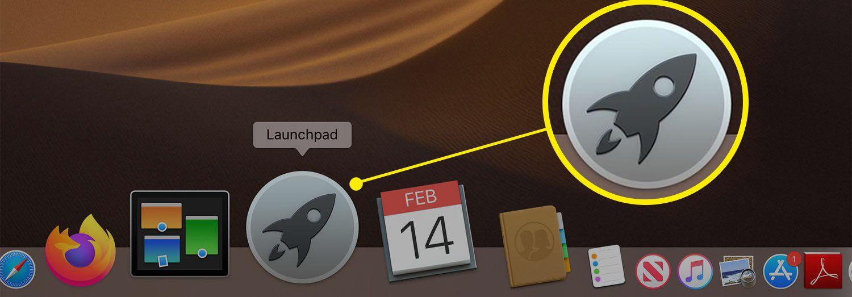 Launchpad icon on the Mac Dock