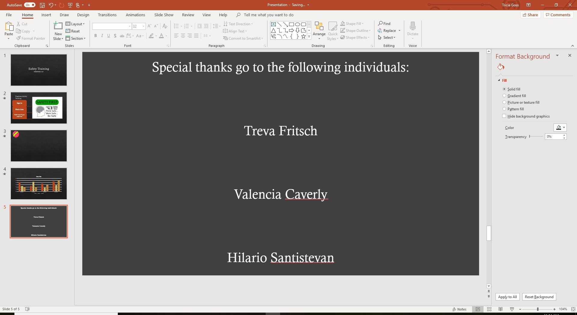 Add Rolling Credits to a PowerPoint Presentation