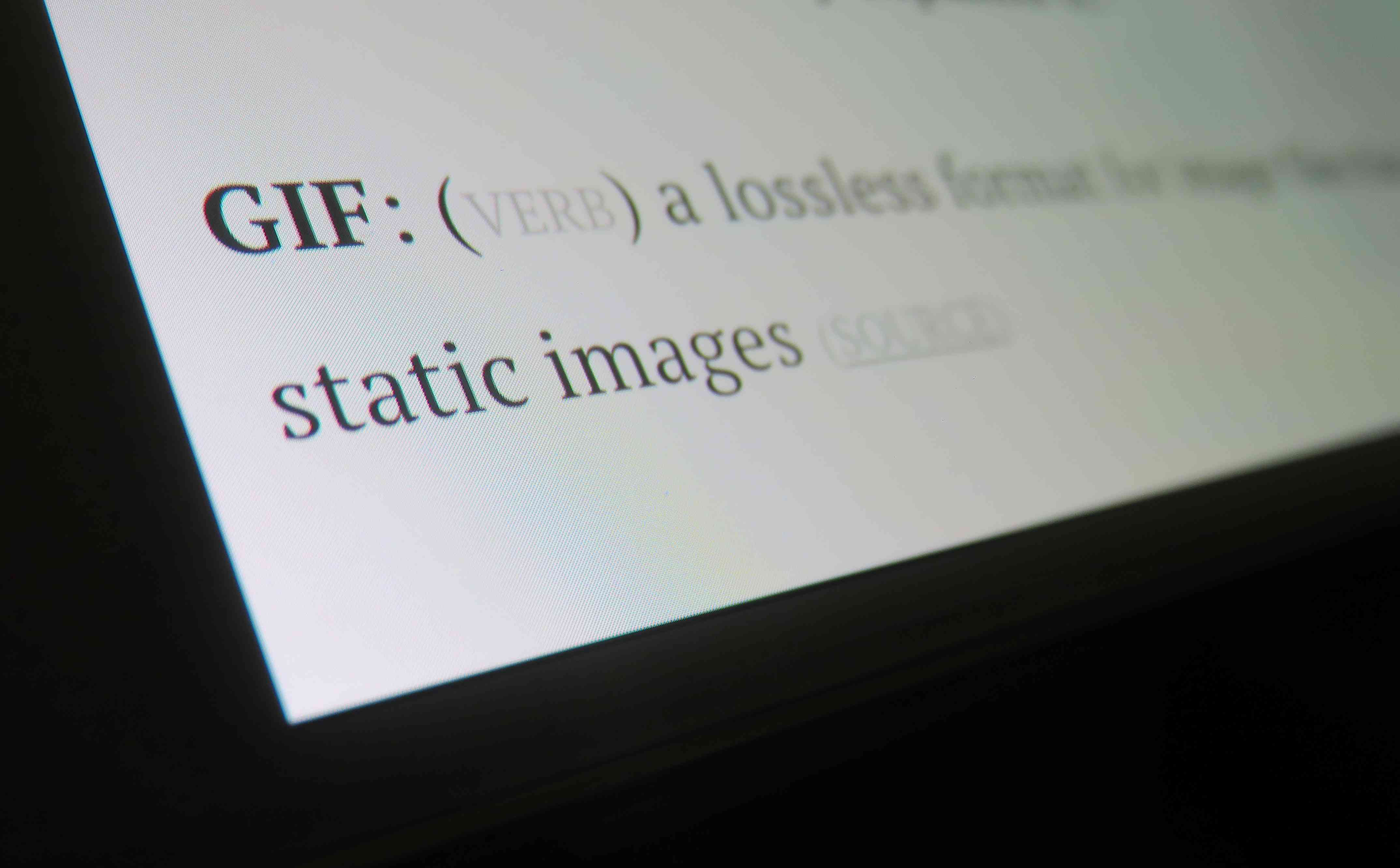 GIF definition on a computer screen