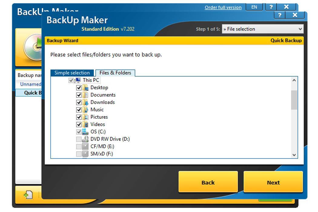 Resultado de imagen para BackUp Maker Professional 7